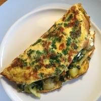Krautstiel (Mangold)-Safran-Omelettes
