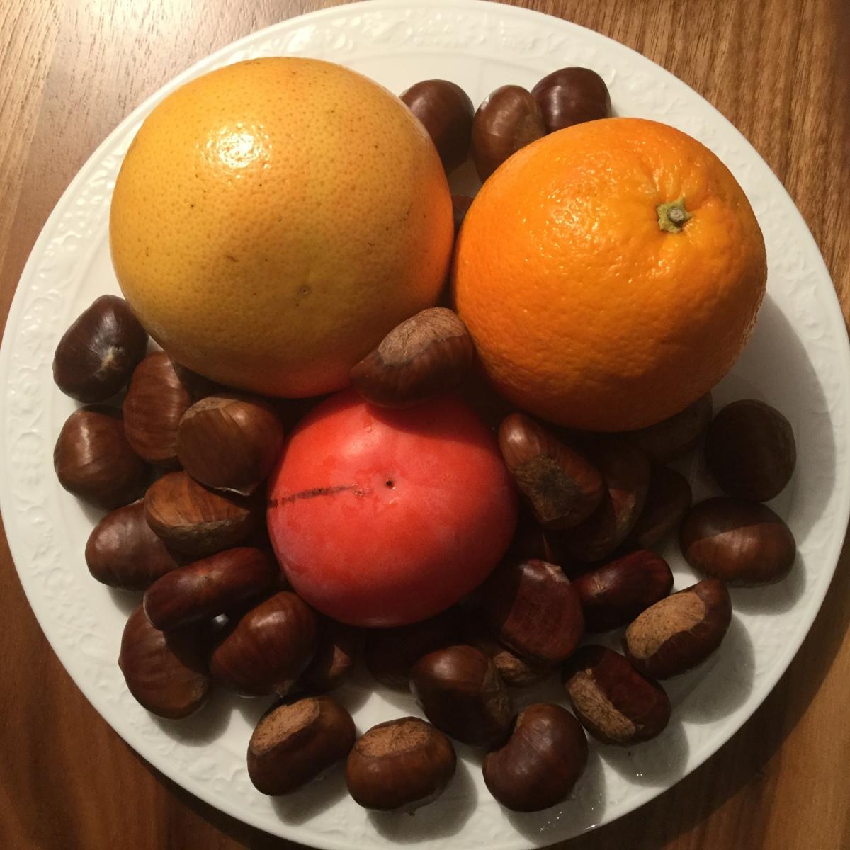 Früchte und Gemüse im Dezember
