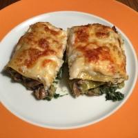 Lasagne mit Grünkohl und Pilzen