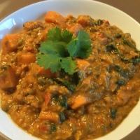 Süsskartoffeln-Mungbohnen-Curry